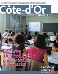 Septembre 2009 en PDF - Conseil général de Côte-d'Or