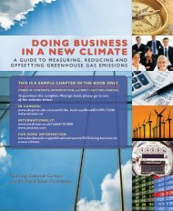 Doing Business in a new Climate - David Suzuki Foundation