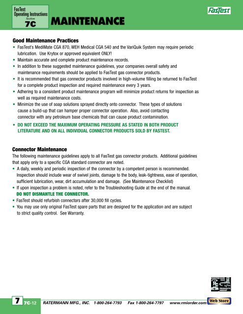 Fastest Operating Instructions Manual (download pdf) - Ratermann ...