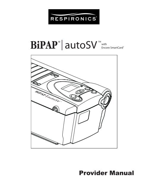 philips respironics bipap manual