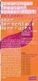 Flyer Theatersommer Din lang NACHDRUCK:9,9 x 21 cm - DEKART