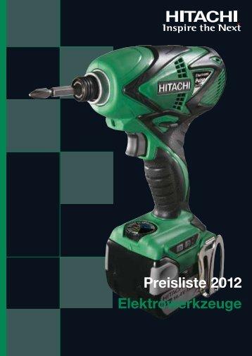 Elektrowerkzeuge Preisliste 2012 - Frank Drucklufttechnik