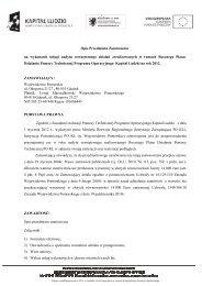 Opis przedmiotu zamówienia - Strona Departamentu Europejskiego ...