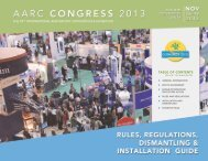 Exhibitor Rules and Regulations - AARC.org