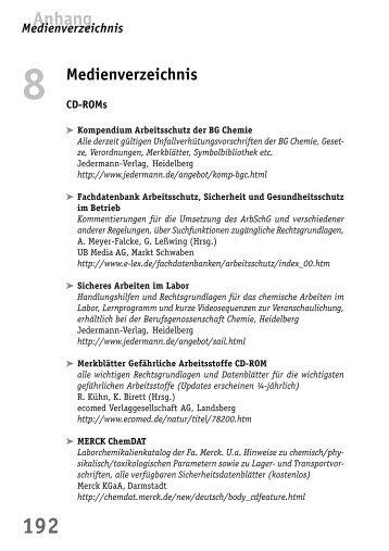 Medienverzeichnis - BuFaTa Chemie