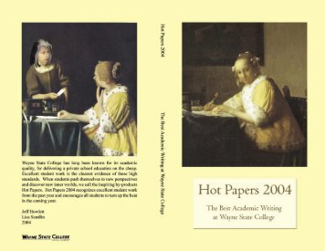 Hot Papers 2004 - Wayne State College