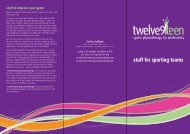 stuff for sporting teams - Twelve9Teen Sports Physiotherapy
