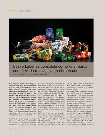 Eusko Label se consolida como una marca con elevada relevancia ...