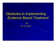 Obstacles to Implementing Evidence Based Treatment - UCLA ...