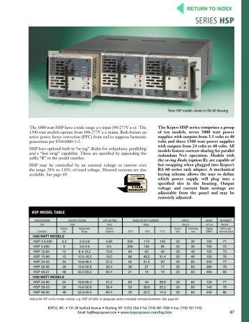 HSP - Kepco, Inc.