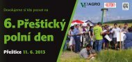 Dovolujeme si Vás pozvat na 6. Přeštický polní den - VP Agro