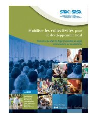 Mobiliser les collectivités pour le développement local: L'évaluation ...
