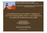 """A classificação dos domicílios """"indígenas"""" no Censo ... - Fiocruz"""