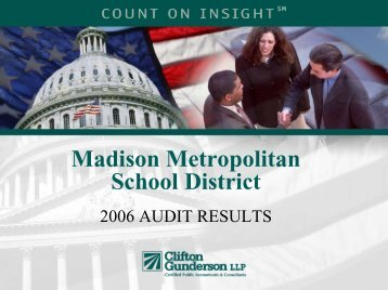 2006 Audit Results - Madison Metropolitan School District