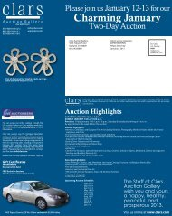 Visit us online at www.clars.com - Clars Auction Gallery