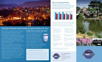 Consumer Confidence Report 2012 - City of Klamath Falls