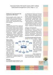 Access Seminarinhalte Aufbau ausdrucken (PDF 222 ... - Win-Seminar