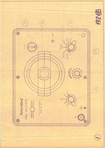 EMG 1921/B Bemérési utasítás és egyéb
