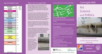 lbgcleaflet_canongatewalla4... - Edinburgh Geological Society