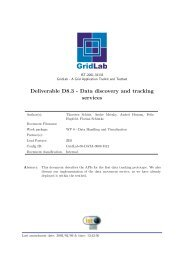 Deliverable D8.3 - Data discovery and tracking services - GridLab