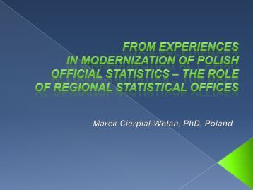 CSO Poland_From experiences in modernization of Polish official ...