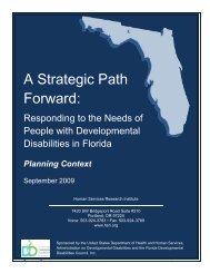 A Strategic Path Forward: - Florida Developmental Disabilities Council