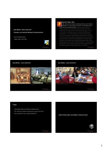 Neue Medien - Neuer Unterricht? Gedanken zum rasenden ... - iMedia
