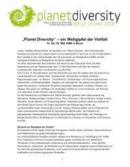 """""""Planet Diversity"""" – ein Weltgipfel der Vielfalt"""