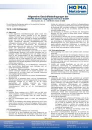 AGB der HO-MA Elektro Aggregate Service GmbH - HO-MA-Notstrom