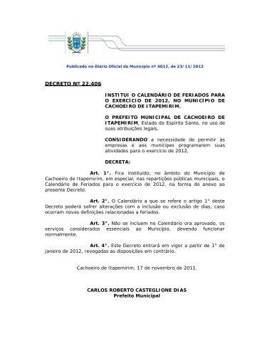 2012. - Prefeitura de Cachoeiro de Itapemirim