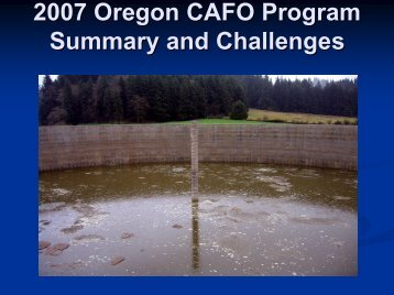 Agriculture Water Quality Program Overview - State CAFO Programs