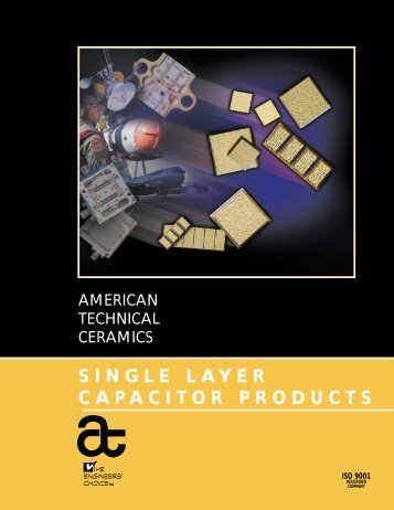 SINGLE LAYER CAPACITOR PRODUCTS