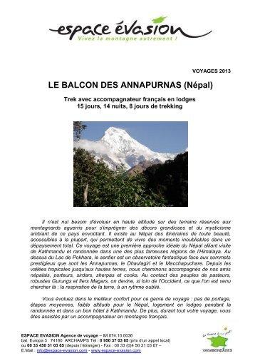LE BALCON DES ANNAPURNAS - WEBRESA