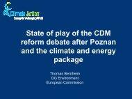 CDM reform at Poznan