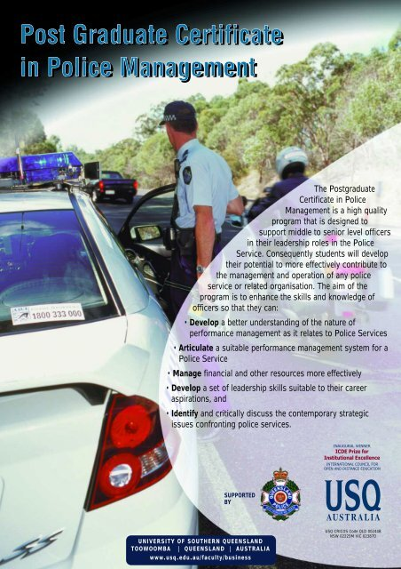 Post Graduate Certificate in Police Management - University of ...