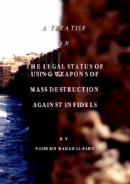 NasirAl-fahd-TheRulingOnUsingWeaponsOfMassDestructionAgainstTheInfidels