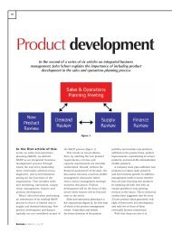 Product development - Oliver Wight Americas