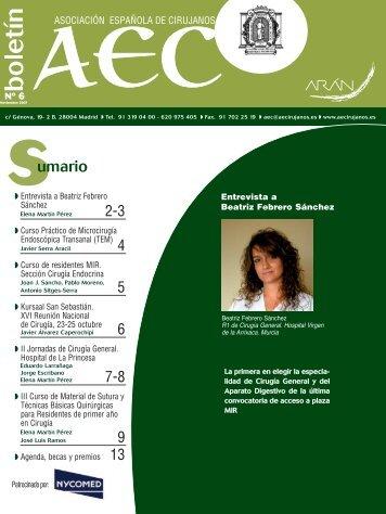 Nº 6 - AEC_____Asociación Española de Cirujanos