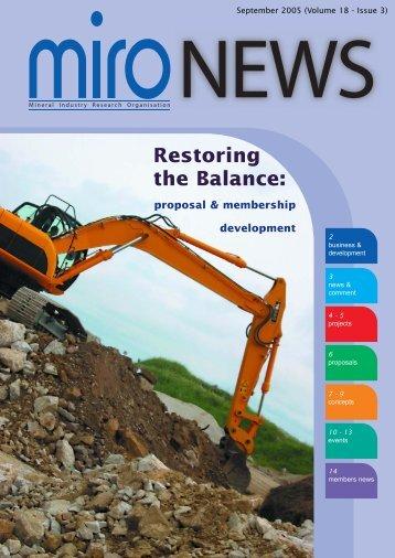 Restoring the Balance: - Miro