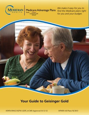 to view our guide to Meridian Geisinger Gold Medicare Advantage ...