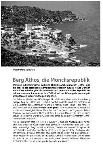 Berg Áthos, die Mönchsrepublik