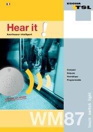 Audible Alert Panel WM87 [.PDF-Datei] - Logo ESCHA TSL GmbH