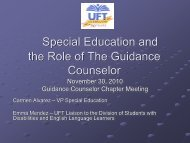 Special Education and the Role of The Guidance Counselor