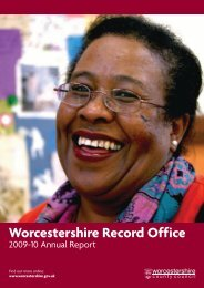 Worcestershire Record Office - Worcestershire County Council