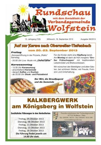 KW 38 - Verbandsgemeinde Wolfstein
