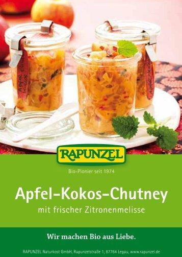 Apfel-Kokos-Chutney - Rapunzel Naturkost AG