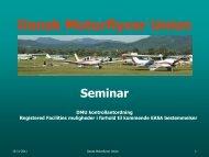 DMU's præsentation - Dansk Motorflyver Union