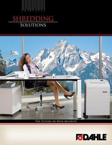 SHrEDDIng - Dahle North America
