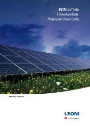 BETAflam® Solar Fotovoltaik-Kabel Photovoltaic Power Cables