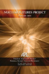 Nuclear Futures Project - The Johns Hopkins University Applied ...
